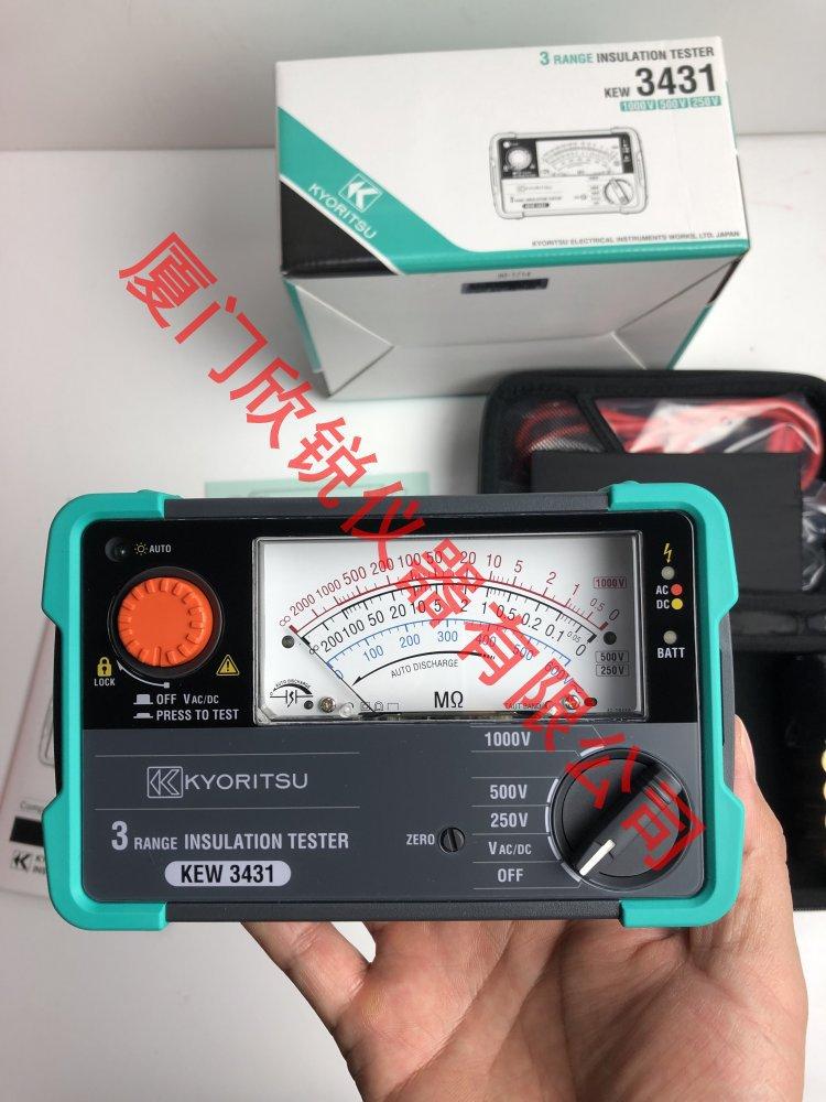 日本克列茨兆欧表KEW3431绝缘电阻仪指针摇表绝缘电阻测试仪3431